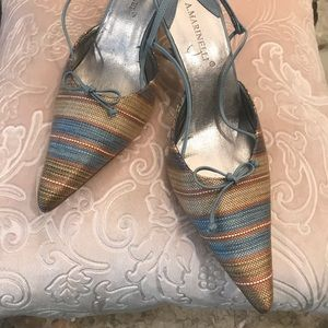 A. Marinelli sandals in woven fabric
